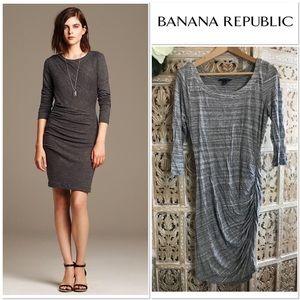 [Banana Republic] dress size L grey jersey
